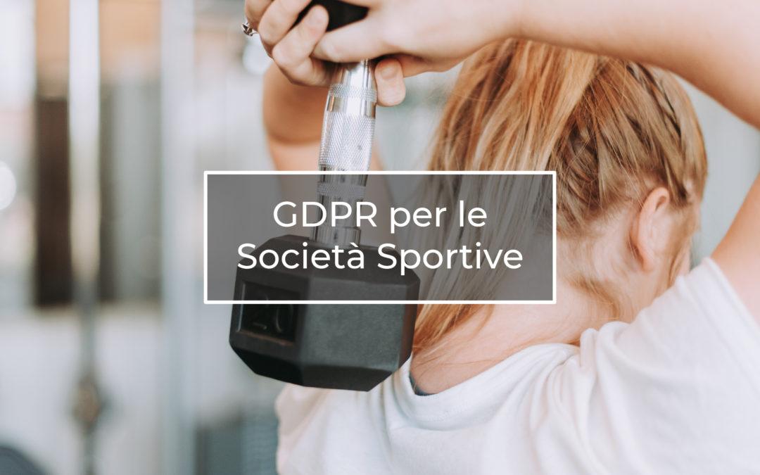 GDPR per le Società Sportive