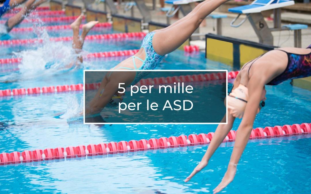 Cinque per mille per le ASD